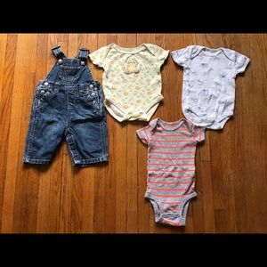 Old navy overalls and onesies